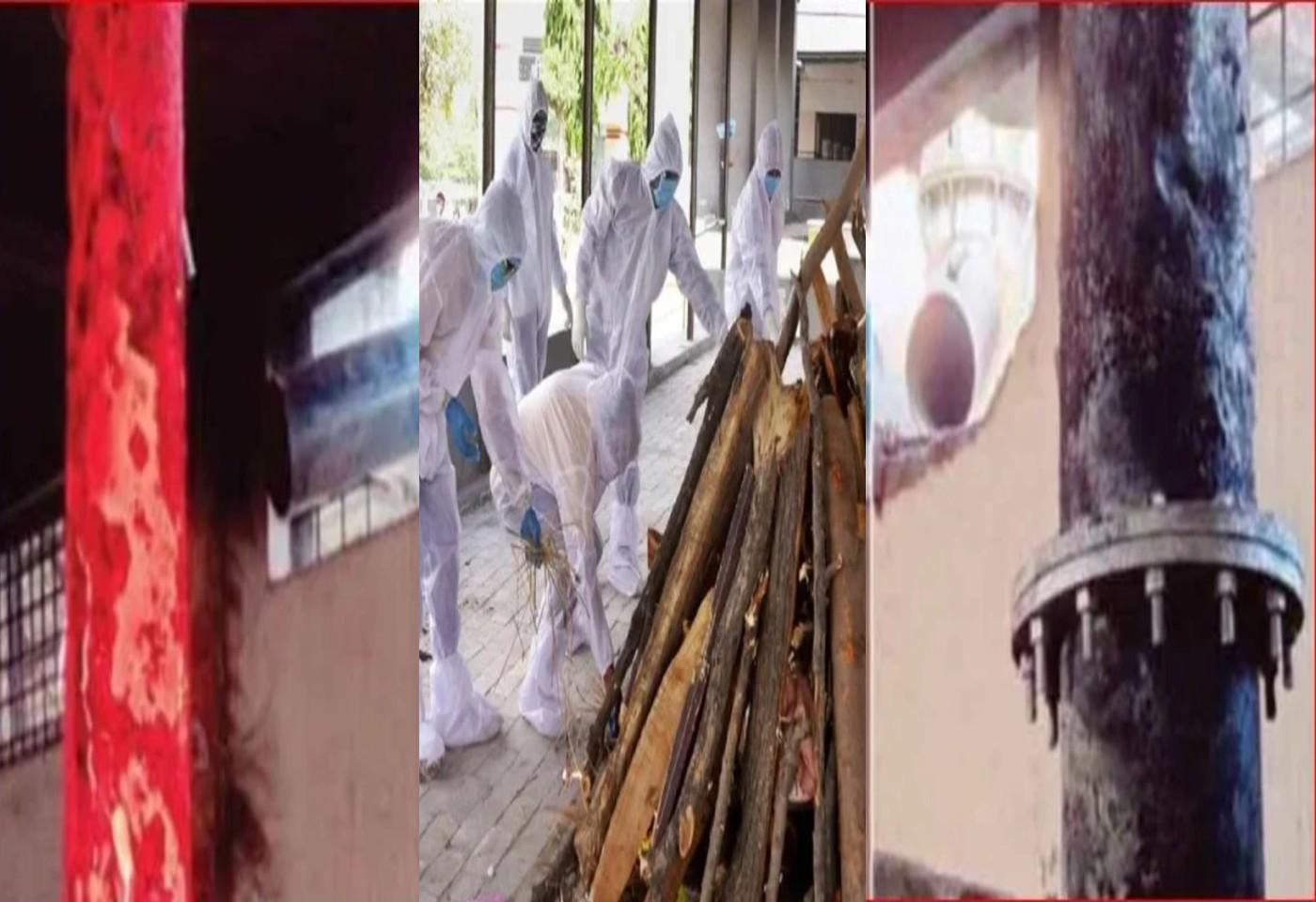 सुरतमध्ये कोरोनाचे थैमान, दररोज 100 हून अधिक अंत्यसंस्कार, विद्युतदाहिन्यांची धुरांडीही वितळली । Corona in Surat, more than 100 funerals a day, Chimenys of electric crematorium melted