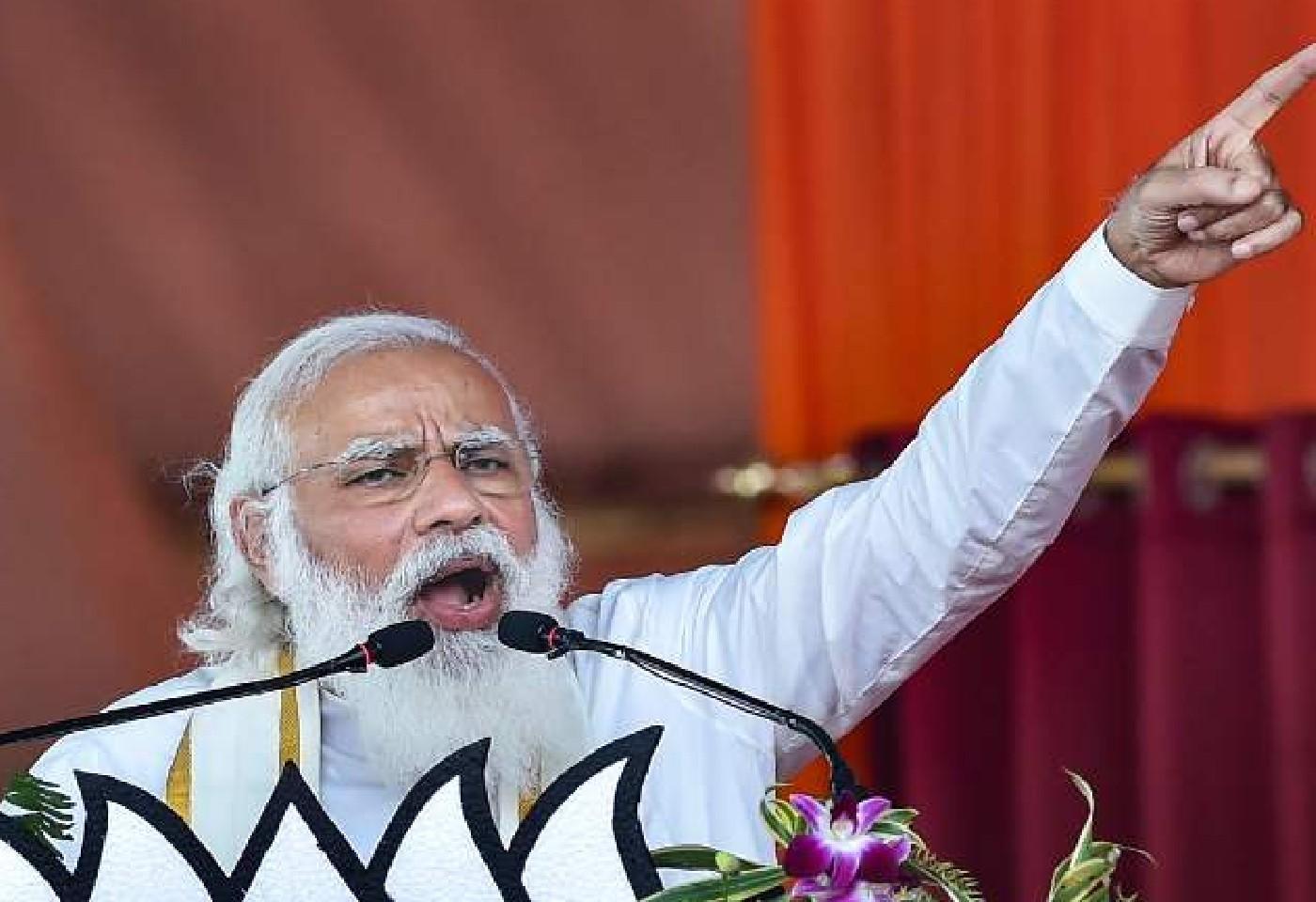 PM Modi Criticizes Mamata Banerjee in Hugli Rally Over Her Allegations On EC