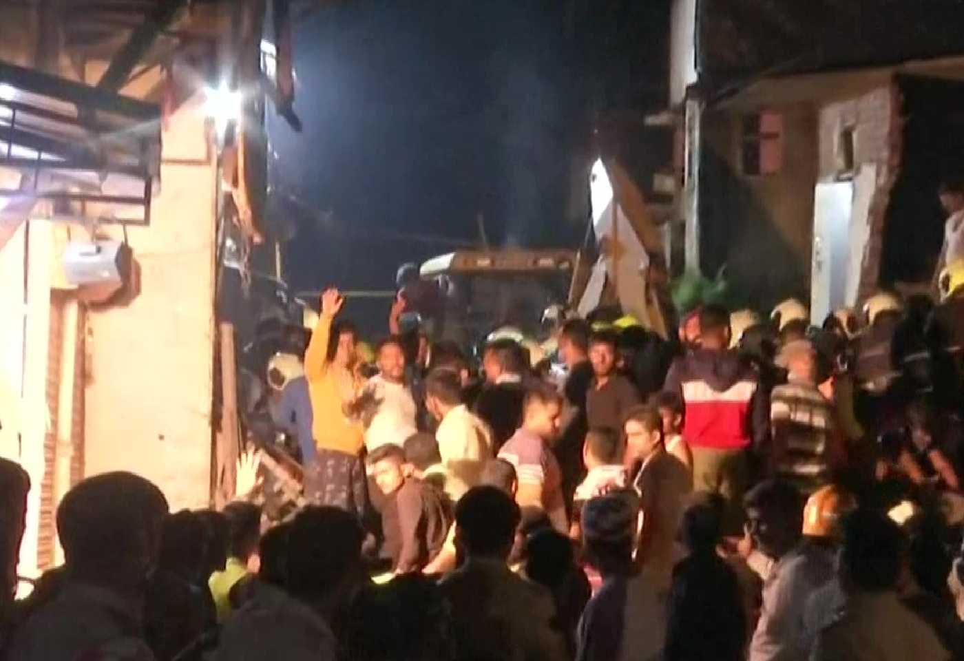 4 storey Building Collapsed In Malavani area Mumbai, 11 People Died, 8 Injured