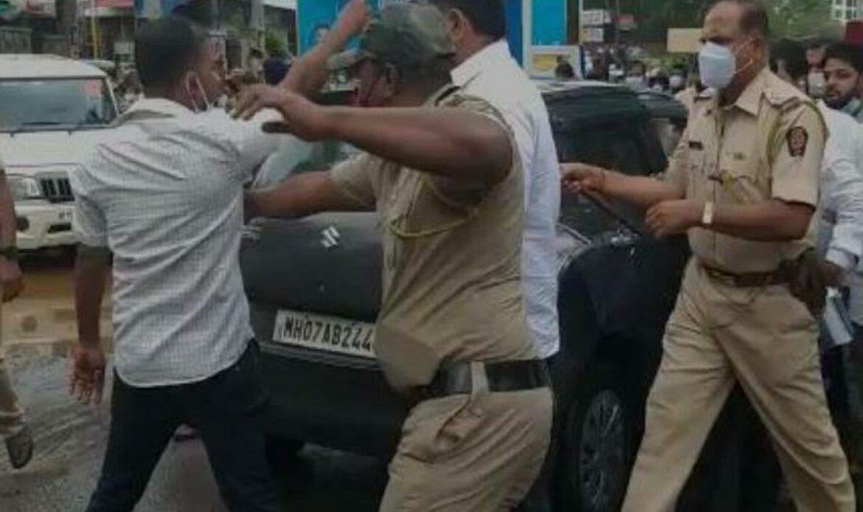 SHIVSENA vs BJP : वाह ! पंप राणेंचा-शिवसेनेची खोटी घोषणा-जनतेची दिशाभूल ;भाजपने केली सेनेला पळता भुई थोडी…संतप्त सेना आमदाराची पोलीसांना धक्काबुक्की