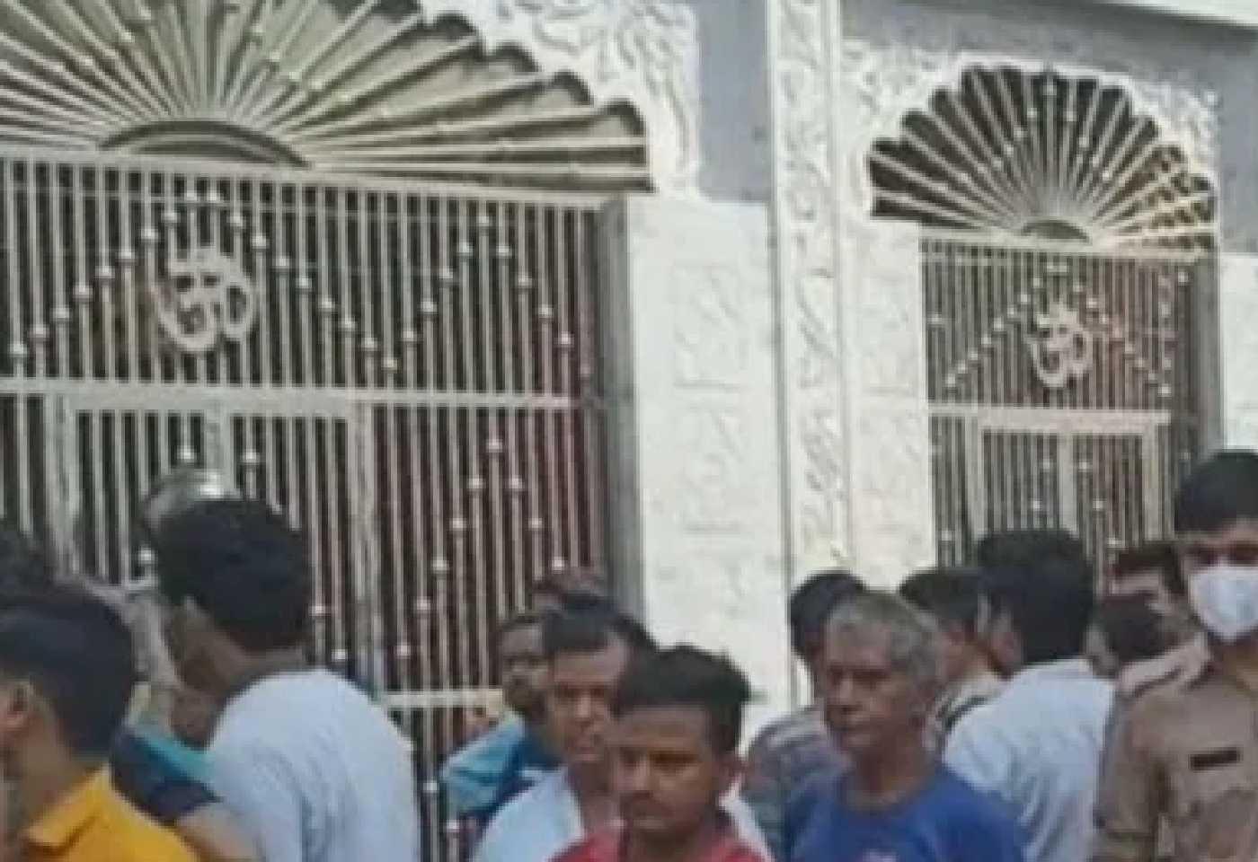 kanpur city tension create in chhibramau kannauj after god statue broken in temple