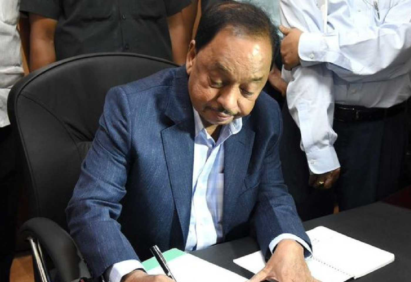 Narayan Rane Takes Charge As MSME Minister, Asked Questions To Officials About GDP And Employment
