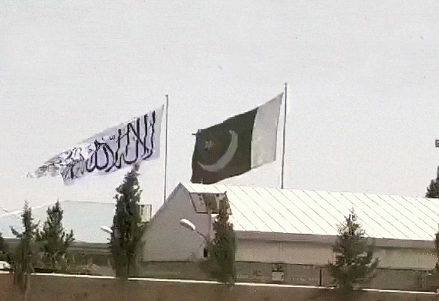 Pakistan And Taliban Flags Side By Side In Spin Boldak In Afghanistan Where Danish Siddiqui Was Killed