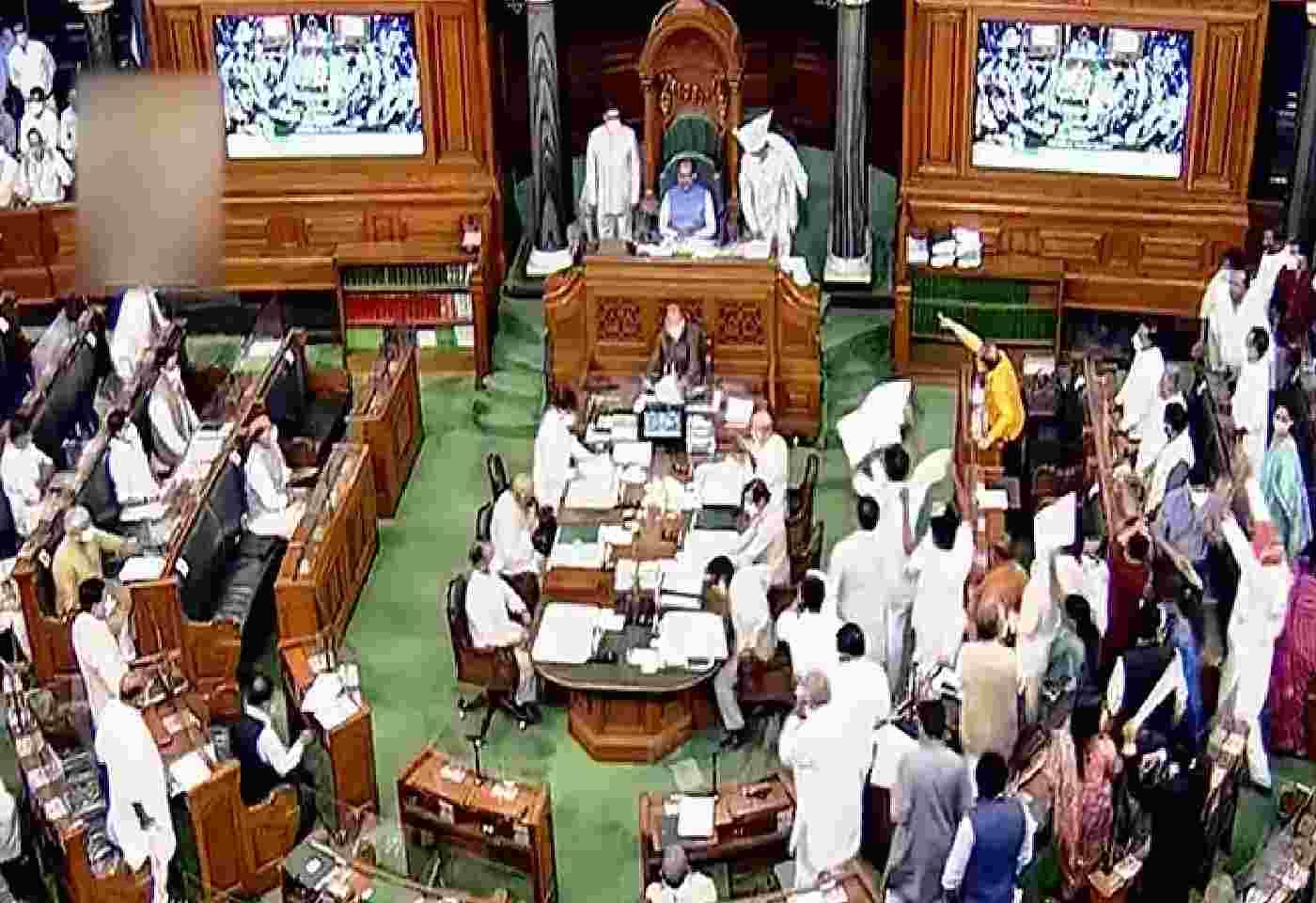 lok sabha rajya sabha Parliament Session adjourned for second time till 2 pm amid opposition uproar