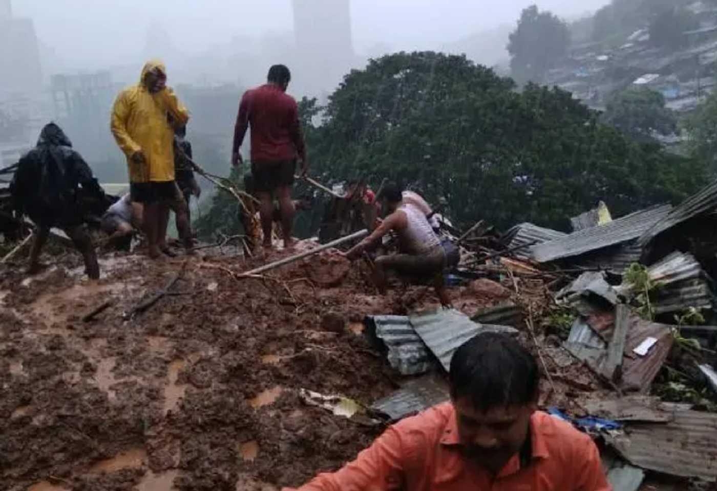 Five killed as rock slips in Kalwa area of Thane land slide