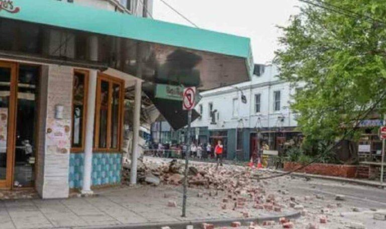 australia melbourne Earthquake 6 magnitude powerful earthquake rubble falls from buildings