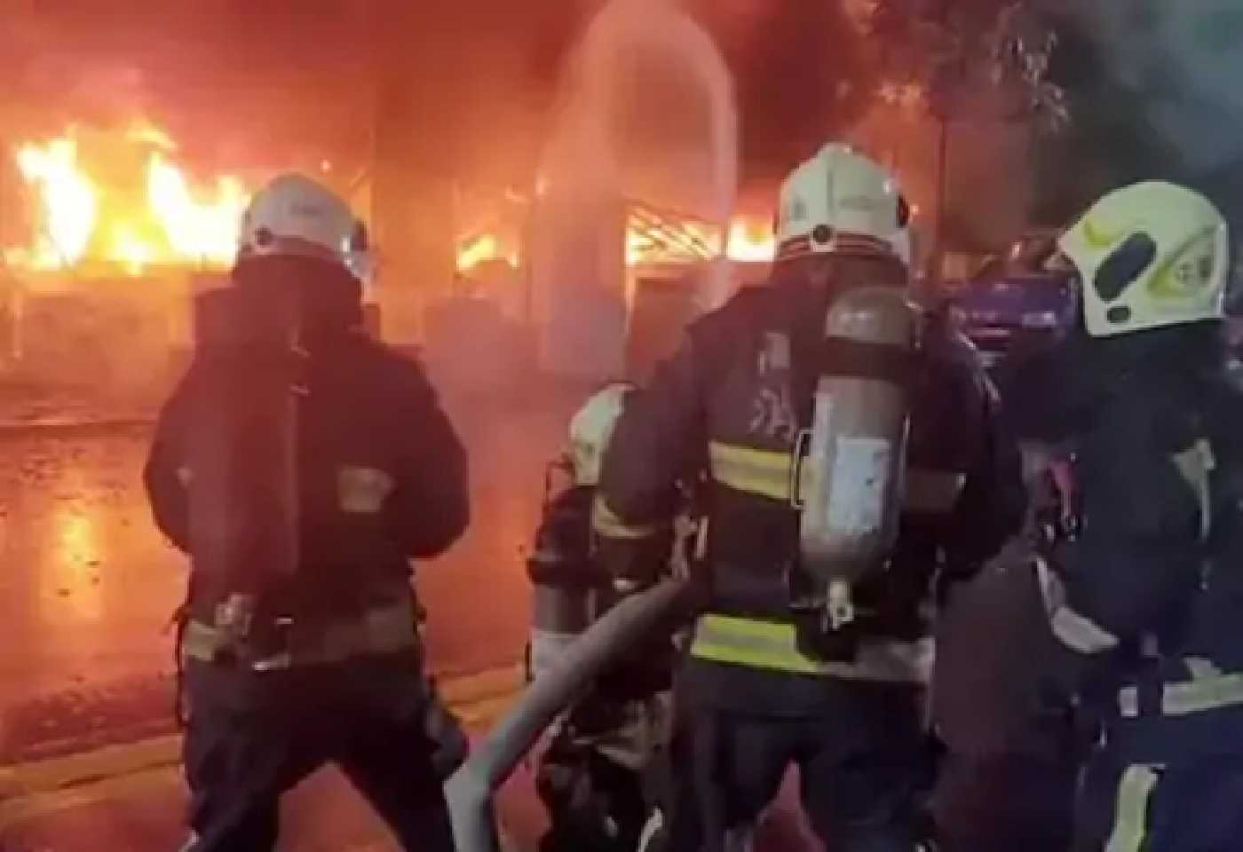 Taiwan Overnight Fire Building Southern City Kaohsiung Many Killing Injuring Dozens